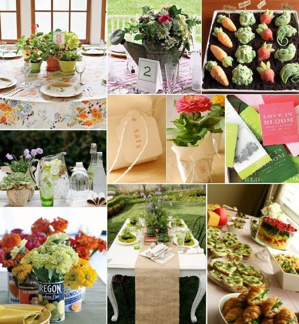 Romantic Garden Wedding Ideas In Bloom: Décoration Thème Jardin/potager