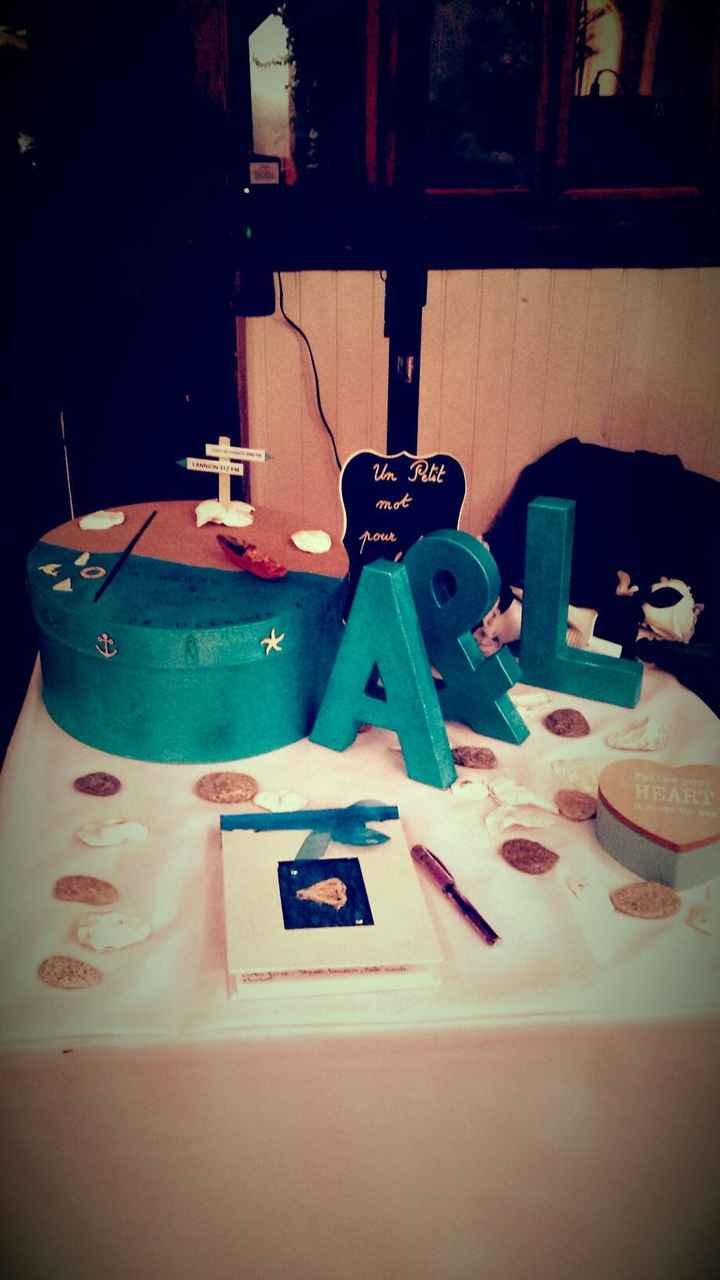 La table avec l'urne et livre d'or
