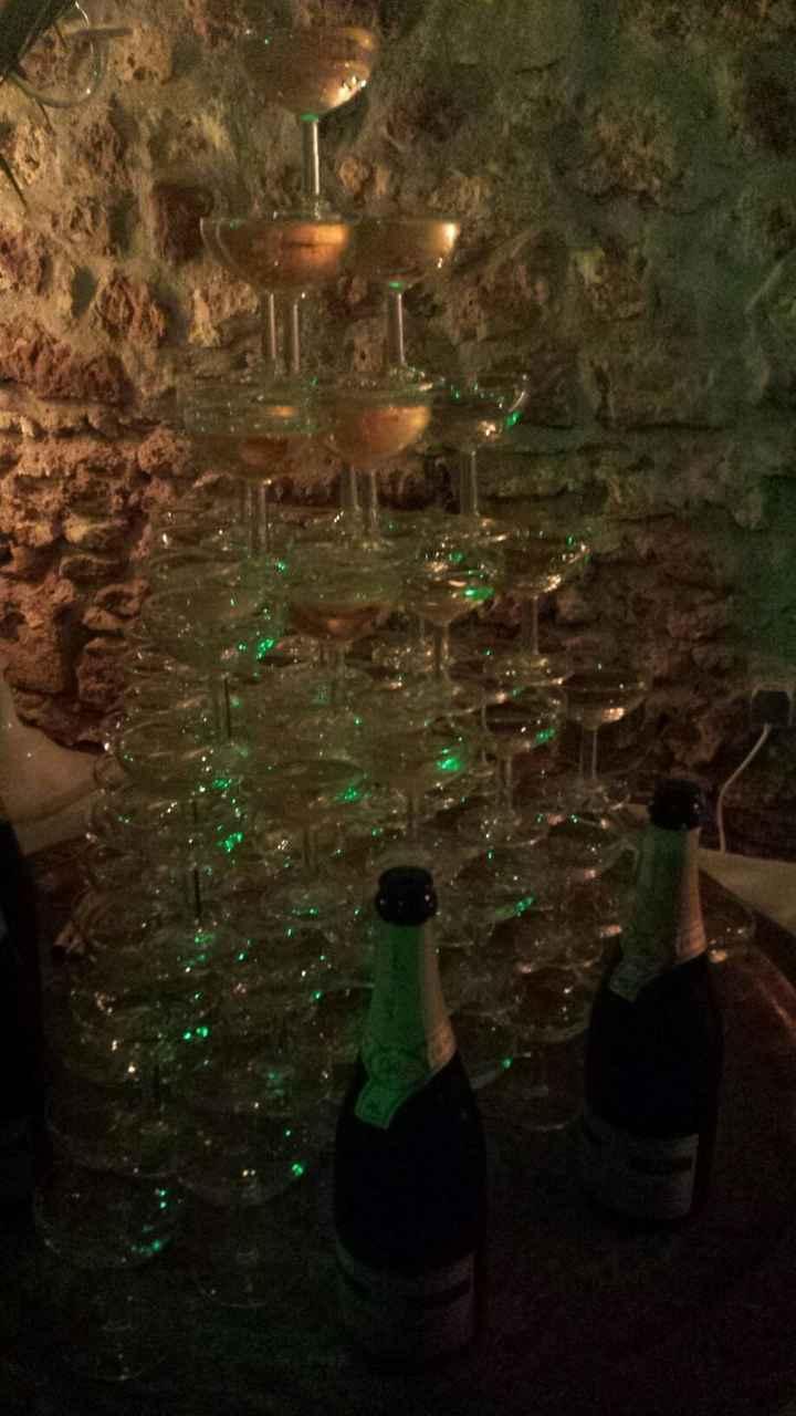 La cascade de champagne