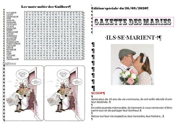 Gazette de mariés avis plume et coquelicots 4