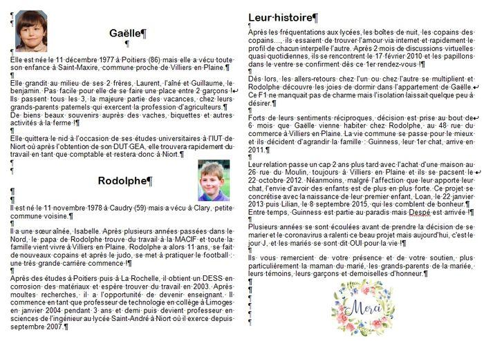 Gazette de mariés avis plume et coquelicots 5