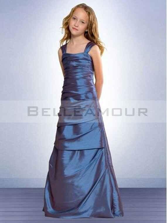 Robe de demoiselle d honneur pour petits fille. - 6