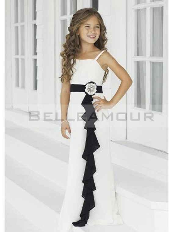 Robe de demoiselle d honneur pour petits fille. - 9