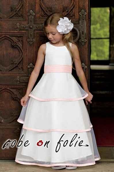 Robe de demoiselle d honneur pour petits fille. - 13