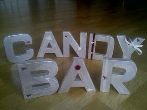 lettre candy bar