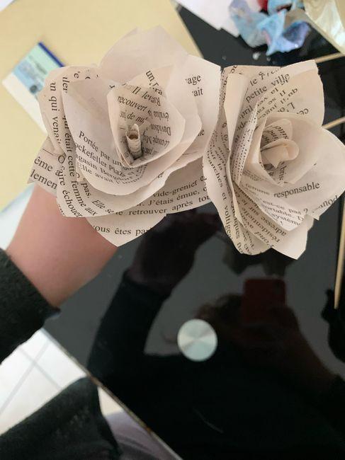 Fleurs en papier centre de table 6