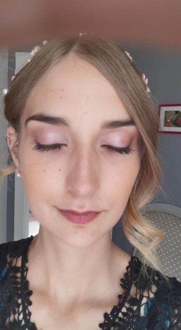 Essai maquillage ravie ! Et coiffure maison 2