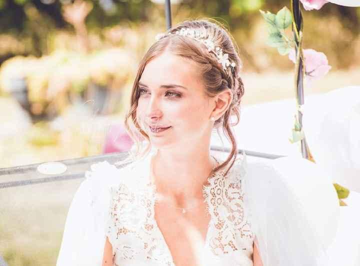 Idées de pose de photo de la mariée seule - 4