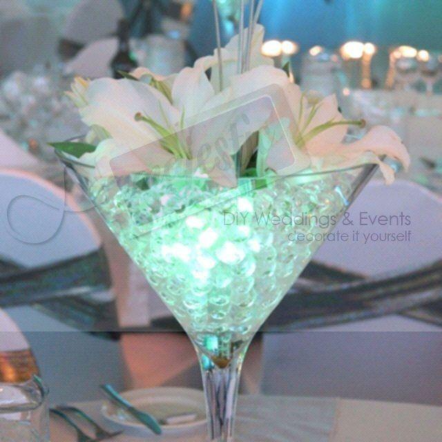 Centre de table avec perles d 39 eau d coration forum - Decoration de vase pour mariage ...