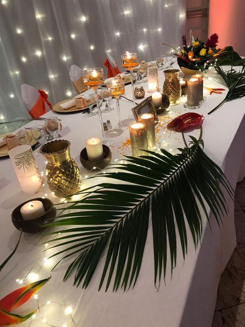 Fleur tropicale mariage thème exotique/tropical 8