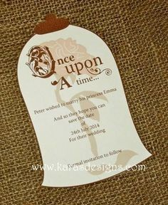 Once Upon A Time Wedding Invitation as best invitation ideas