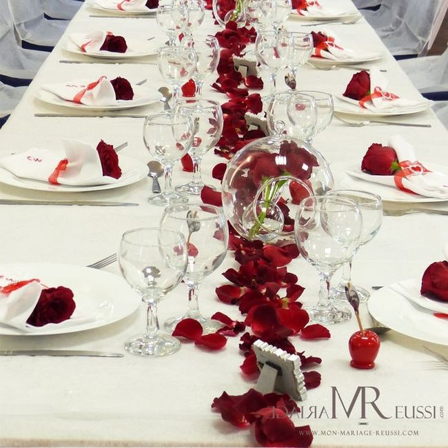 Decoration Vip Table Rouge