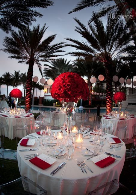 red wedding decorations reception mariage amour d 233 coration forum mariages net 7032
