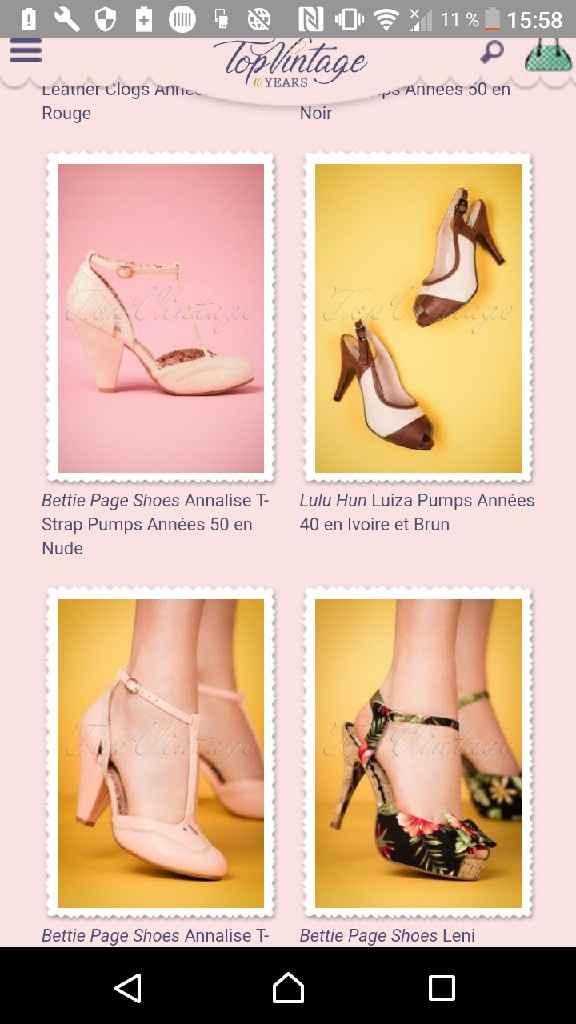 Aide chaussures rose bois/poudrée. - 1