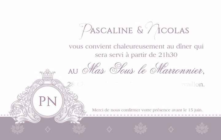 nos cartons d'invitation