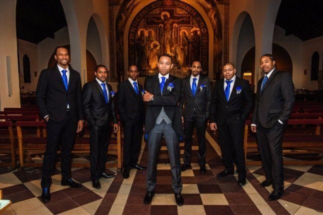 témoins garçons en bleu roi
