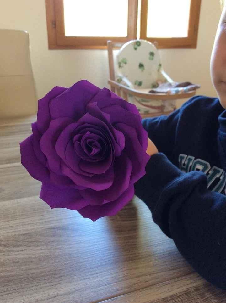 Rose violettes (filtres peints avant de faire la rose)