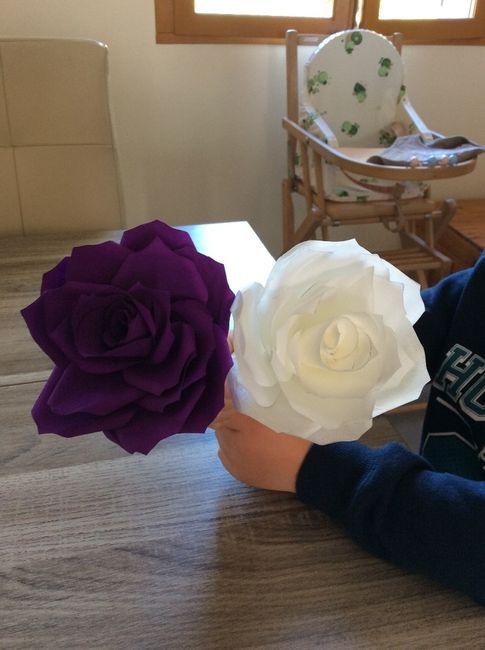 Rose thème blanc et violet