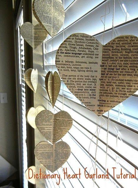 coeurs en papier
