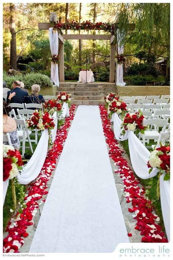 Rouge et blanc, version romantique !