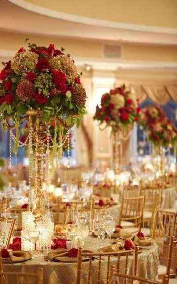 Du doré pour un mariage très princesse !