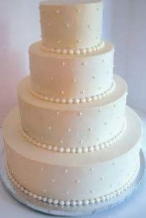 Wedding cake blanc/ivoir/nacré 3