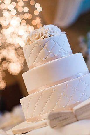 Wedding cake blanc/ivoir/nacré 4