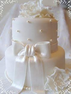 Wedding cake blanc/ivoir/nacré 1