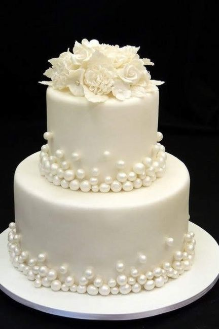 Wedding cake blanc/ivoir/nacré 2