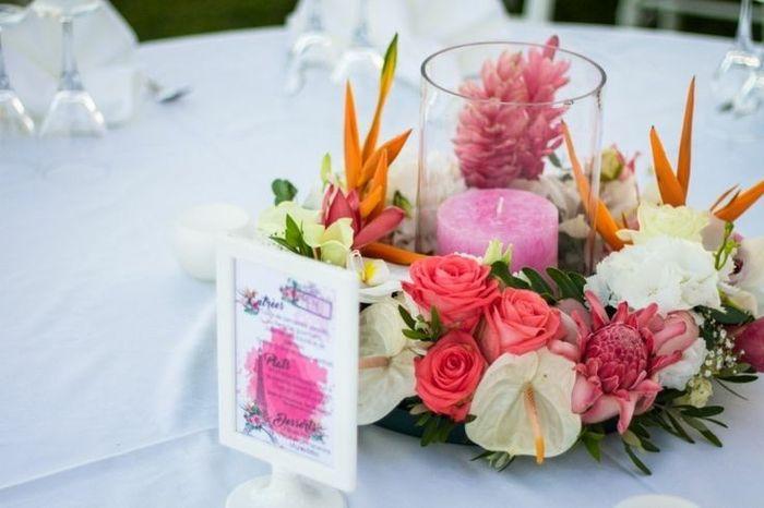 Fleur tropicale mariage thème exotique/tropical 23