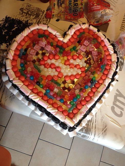 ... fini en plus nous avons fait une centaine de brochettes de bonbons