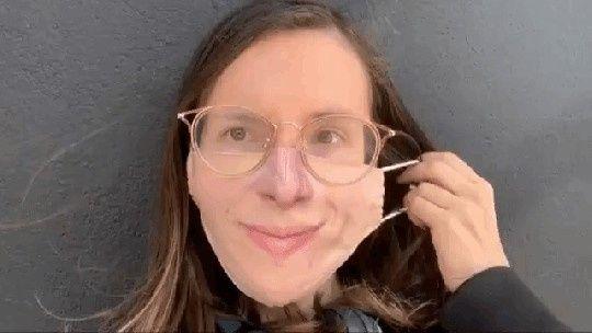 Masque en tissu imprimé avec votre visage! 1