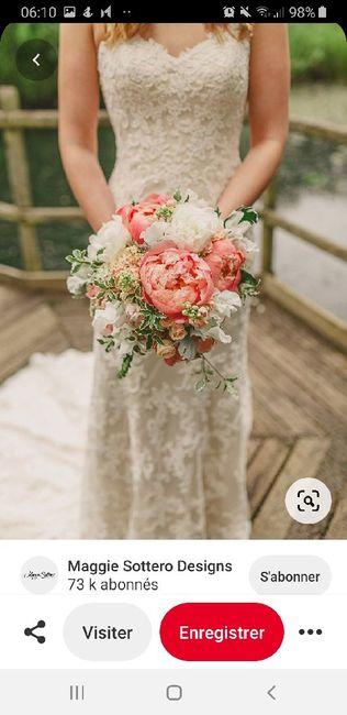 Couleurs bouquet robe Champagne dentelle ivoire 15