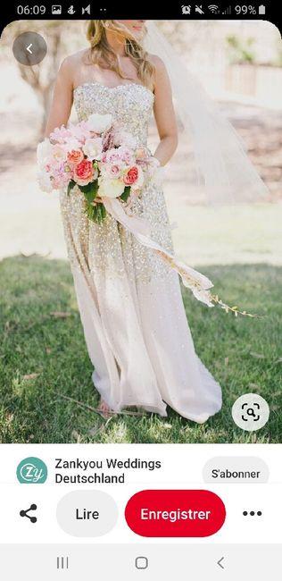 Couleurs bouquet robe Champagne dentelle ivoire 16