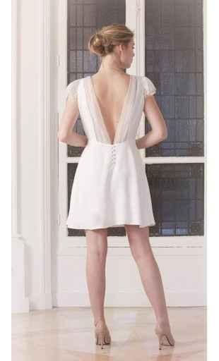 Petite robe blanche dos