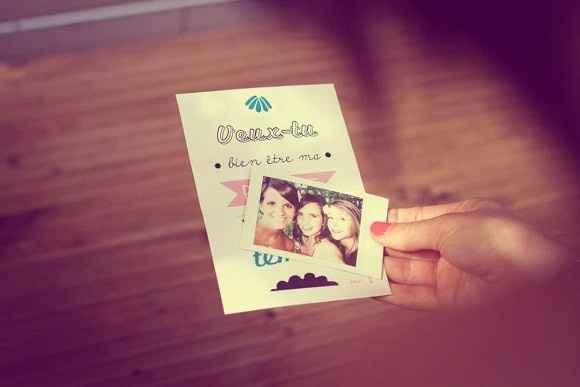 Carte + photo Polaroid