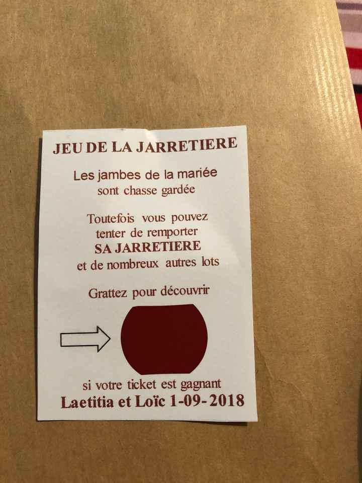 Modèles de tickets de tombola des mariés pour jarretière - 1