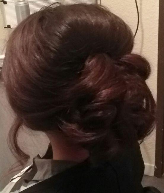 Mon essai coiffure :) - 2