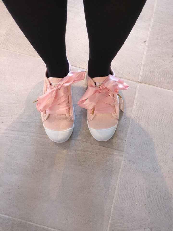 Deuxième paire de chaussures reçues ! Mariée en baskets ! - 1