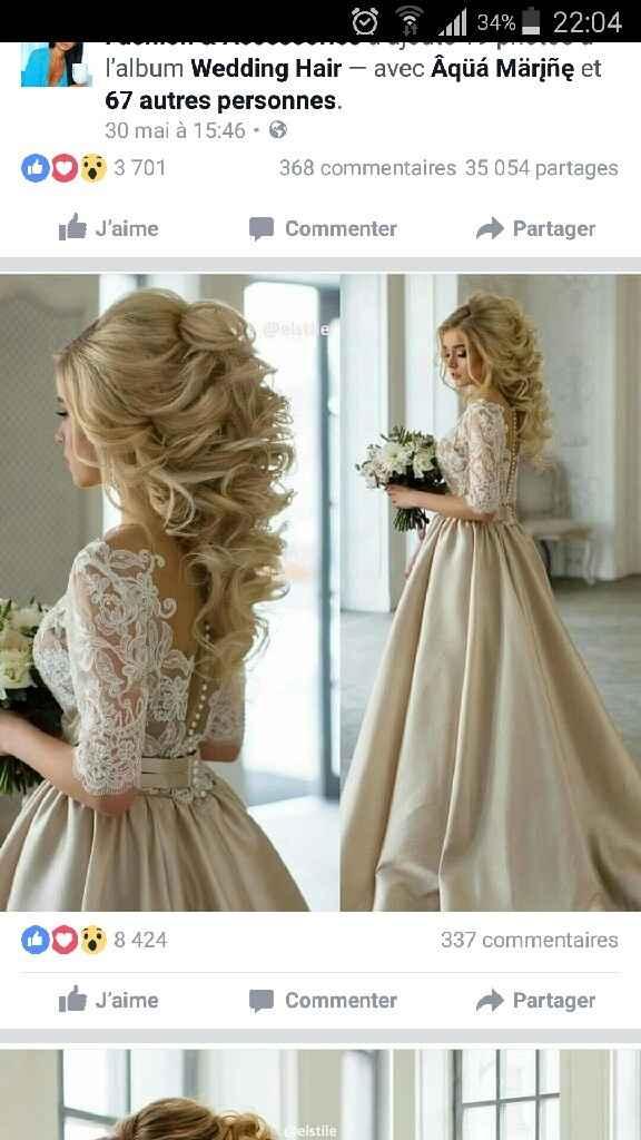Idées coiffures mariage pour cheveux long - 1