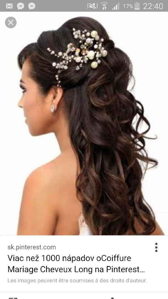 Idées coiffures mariage pour cheveux long - 2
