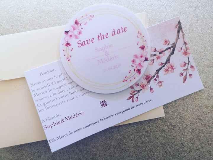 Save the date thème Japon - 1