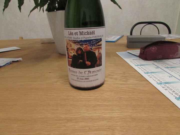 Etiquette bouteille DIY