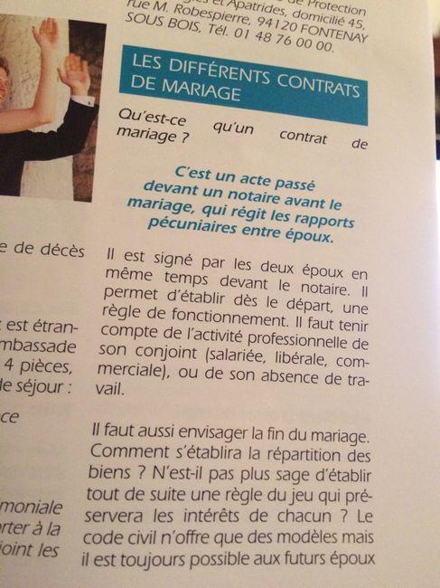 Contrat De Mariage Separation De Biens Avant Le Mariage Forum