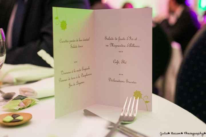 notre menu mariage