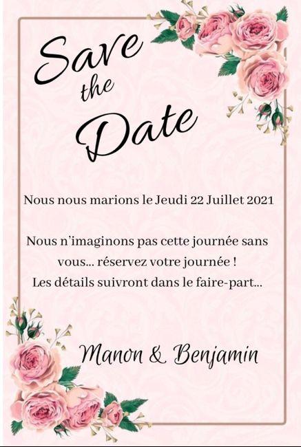 Faire part save the date photo 1 ou 2 ou aucun ? 😊 - 2