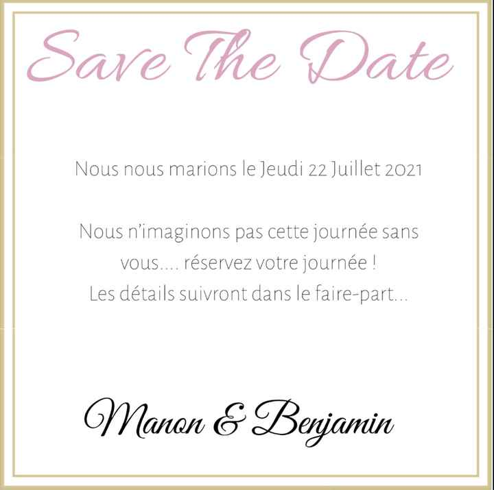 Faire part save the date photo 1 ou 2 ou aucun ? 😊 - 1
