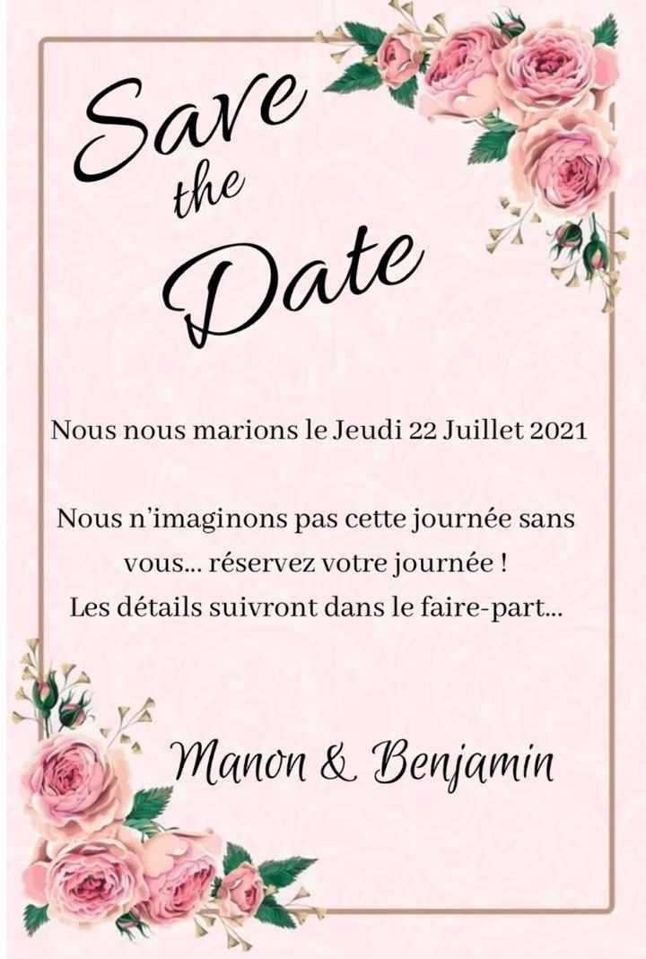Faire part save the date photo 1 ou 2 ou aucun ? 😊 - 2