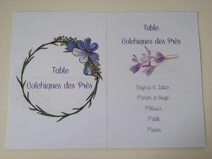 Affiches plan de table et noms de tables 1