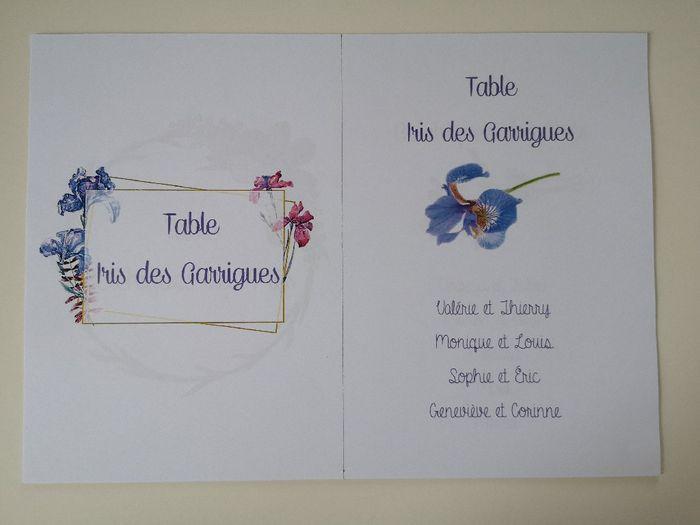 Affiches plan de table et noms de tables 3